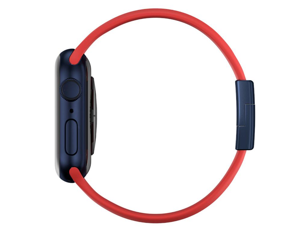 xMount@Strap Apple Watch Armband rot Aluminiumverschluß schwarz