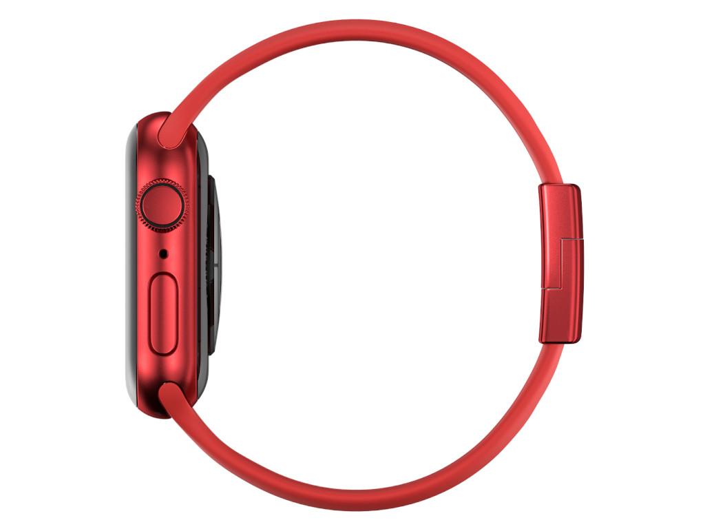 xMount@Strap Apple Watch Armband rot Aluminiumverschluß rot