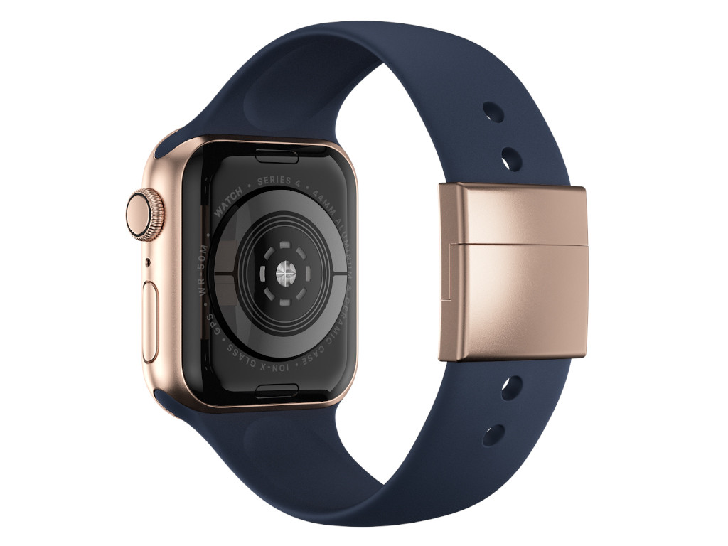 xMount@Strap Apple Watch Armband blau Aluminiumverschluß gold