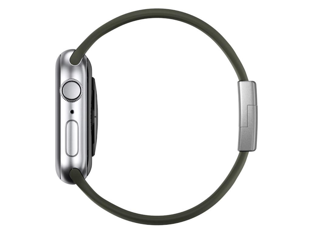 xMount@Strap Apple Watch Armband grün Aluminiumverschluß silber