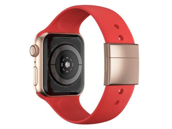 xMount@Strap Apple Watch Armband rot Aluminiumverschluß gold
