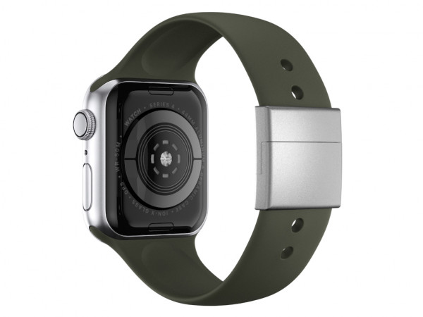 xMount@Strap Apple Watch band green aluminum close silver