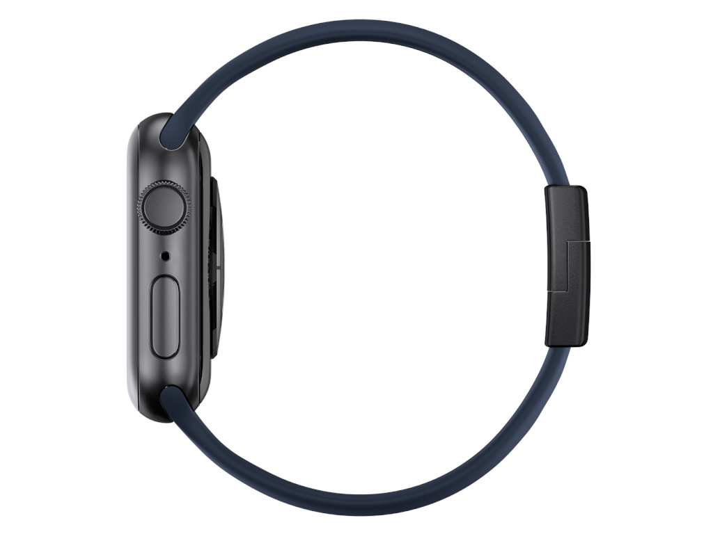 xMount@Strap Apple Watch Armband blau Aluminiumverschluß schwarz