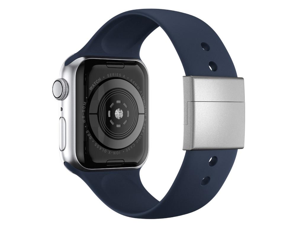 xMount@Strap Apple Watch Armband blau Aluminiumverschluß silber