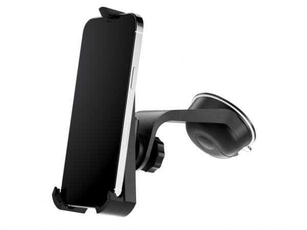xMount@Car&Home - iPhone 12 Pro Max Saugnapfhalterung hält bombenfest im Auto