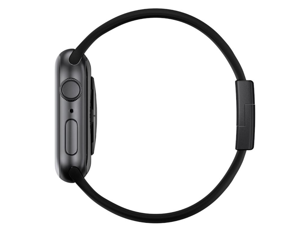 xMount@Strap Apple Watch Armband schwarz Aluminiumverschluß schwarz