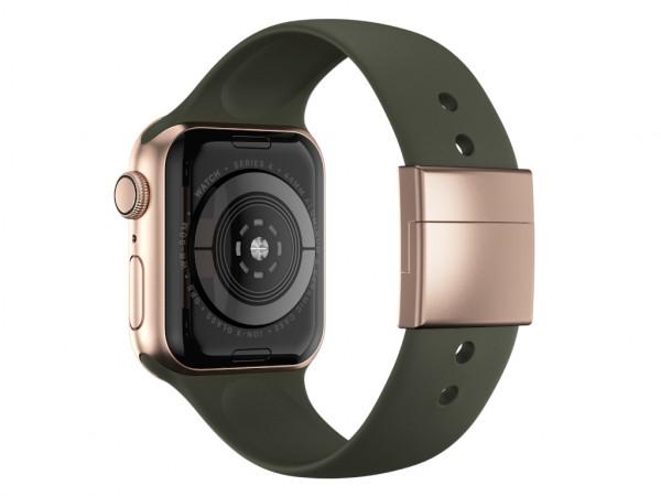 xMount@Strap Apple Watch Armband grün Aluminiumverschluß gold