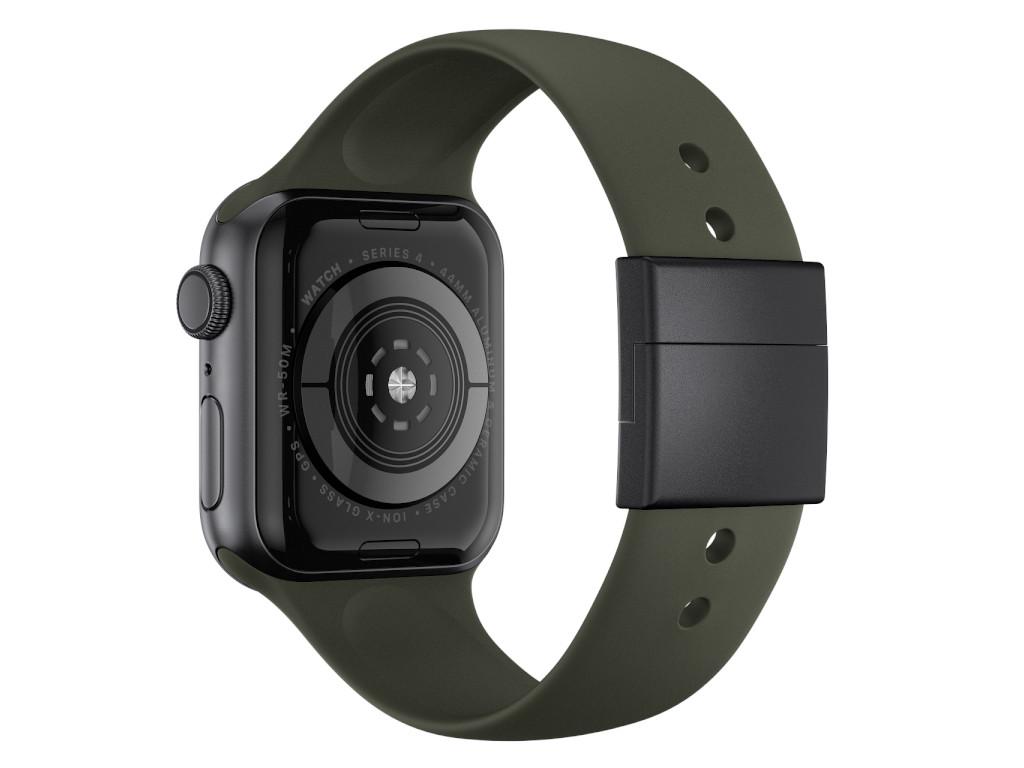 xMount@Strap Apple Watch Armband grün Aluminiumverschluß schwarz