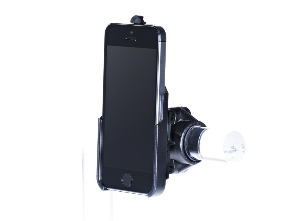 xMount@Bike - iPhone SE Fahrradhalterung behält das iPhone im Blick und die Hände am Lenker