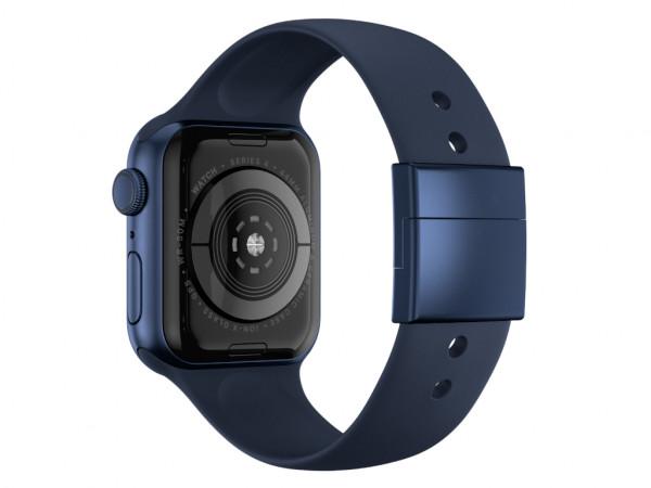 xMount@Strap Apple Watch Armband blau Aluminiumverschluß blau