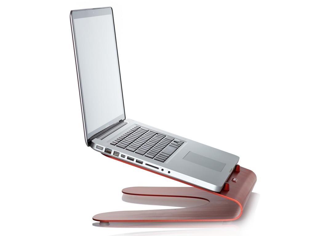 xMount@Wave MacBook Stand/Tischständer rot