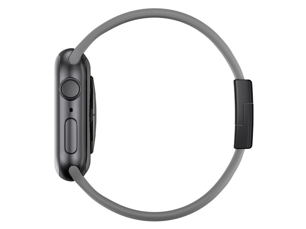 xMount@Strap Apple Watch Armband grau Aluminiumverschluß schwarz