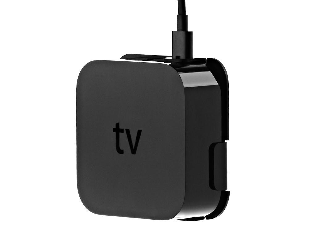 xMount@TV schwarz Apple TV 4 Wandhalterung
